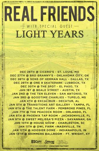 Tour Schedule © Light Years