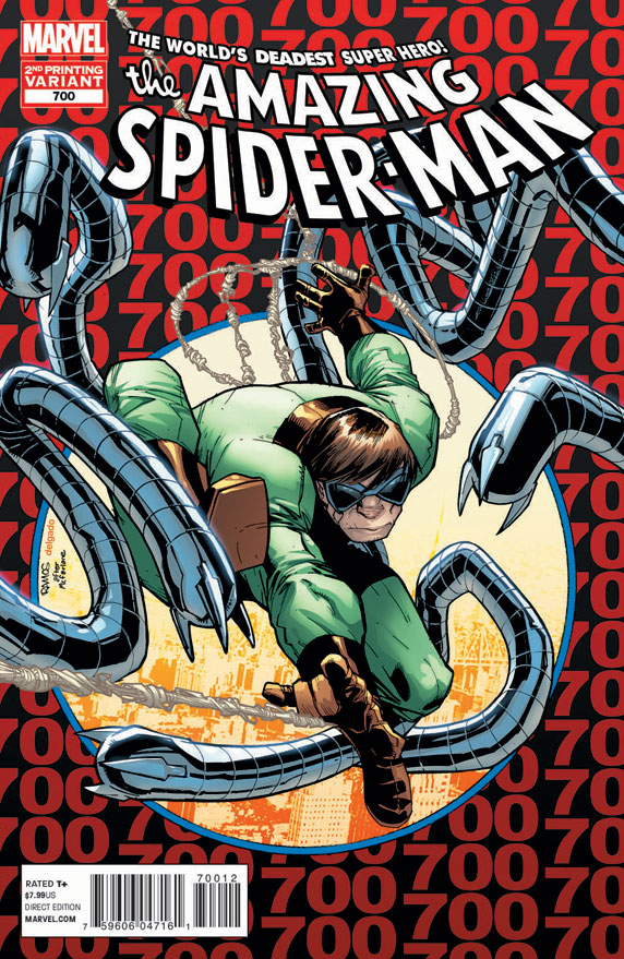 Second Printing of Amazing Spider-Man #700 by Humberto Ramos © Marvel