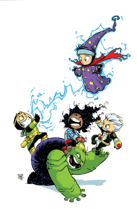Young Avengers #1 - Skottie Young variant cover © Marvel 2012